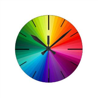色の時計 ラウンド壁時計