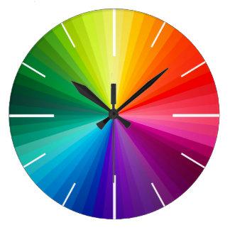 色の時計 ラージ壁時計