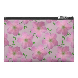 色の植物のピンクのゼラニウムの花 トラベルアクセサリーバッグ