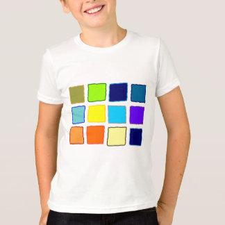 色の正方形 Tシャツ