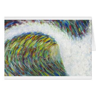 色の波 グリーティングカード