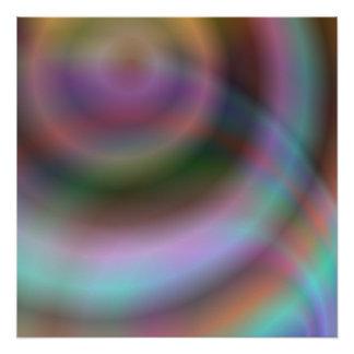 色の渦のデザイン ポスター
