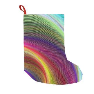 色の渦 スモールクリスマスストッキング