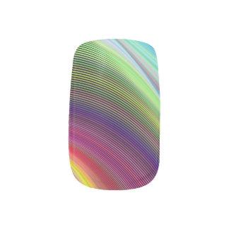 色の渦 ネイルアート