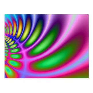 色の湾曲 ポストカード