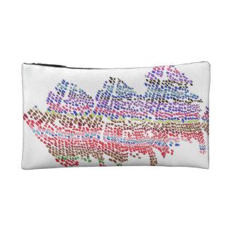色の点の波 コスメティックバッグ