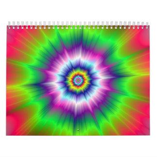 色の爆発のカレンダー カレンダー