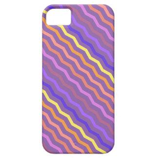 色の爆発のジグザグ形のシェブロンのカラフルの薄紫 iPhone SE/5/5s ケース