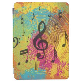 色の爆発の明るい音楽ノート iPad AIR カバー