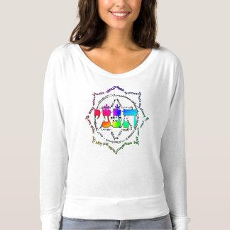 色の爆発のHineini Flowyのワイシャツ Tシャツ