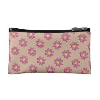 色の甘く写実的なピンクの花 コスメティックバッグ