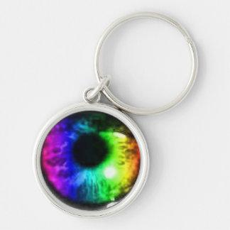 色の眼球Keychainのしぶき キーホルダー
