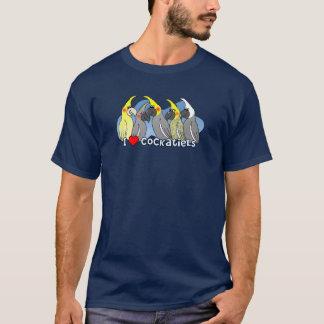 色の突然変異のCockatiel Tシャツ