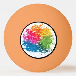 色の粉の虹 卓球ボール