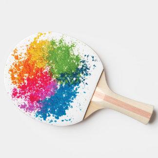 色の粉の虹 卓球ラケット