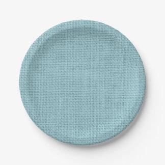 色の素朴なバーラップのパーティの紙皿 ペーパープレート