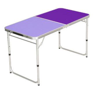 色の背景だけ-すみれ色の紫色 + あなたのアイディア ビアポンテーブル