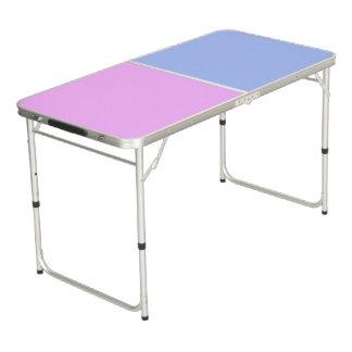色の背景だけ-淡いブルーのピンク ビアポンテーブル