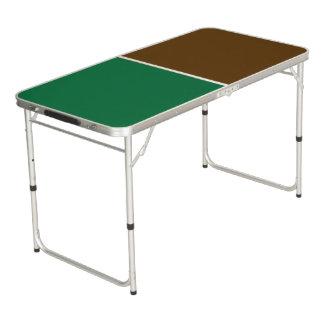 色の背景だけ-深緑色の茶色 ビアポンテーブル