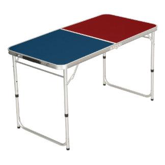 色の背景だけ-濃紺の赤 + あなたのアイディア ビアポンテーブル