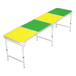 色の背景だけ-黄色緑 + あなたのアイディア ビアポンテーブル