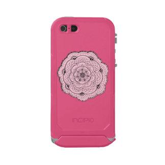 色の背景カラフルな音楽ハート ウォータープルーフiPhone SE/5/5sケース
