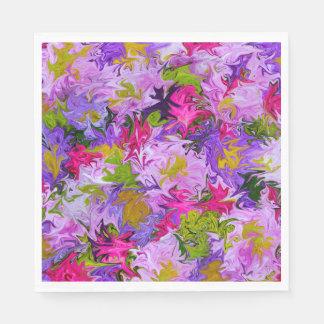 色の花の抽象美術のデザインの花束 スタンダードランチョンナプキン