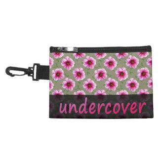 色の花の秘密のピンクの花 アクセサリーバッグ