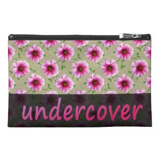 色の花の秘密のピンクの花 トラベルアクセサリーバッグ