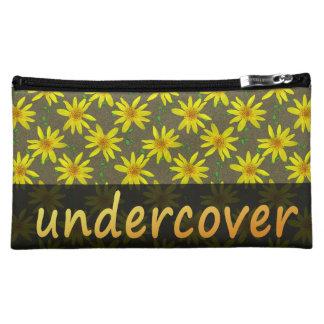 色の花の秘密の黄色い花 コスメティックバッグ