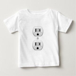 色の装飾をカスタマイズ電気プラグのかちりと言う音 ベビーTシャツ