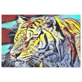色の蹴り-トラ 薄葉紙