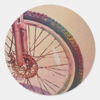 色の車輪 ラウンドシール