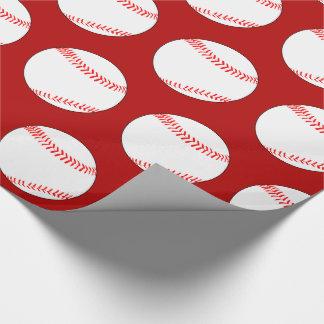色の野球のパーティーのギフトの包装紙を選んで下さい ラッピングペーパー