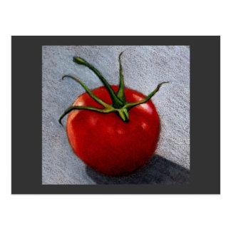 色の鉛筆のトマト: 芸術 ポストカード