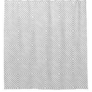 色の銀製灰色の幾何学的設計 シャワーカーテン