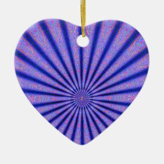 色の青いデジタル芸術の鮮やかな光線 セラミックオーナメント