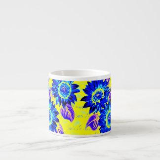 色の風変りなヒマワリを変えて下さい エスプレッソカップ