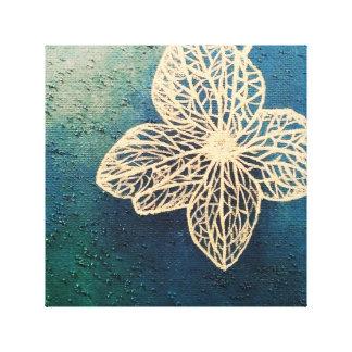 色の魔法-ターコイズの色合いが付いている青 キャンバスプリント