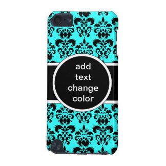 色の黒いダマスク織 iPod TOUCH 5G ケース