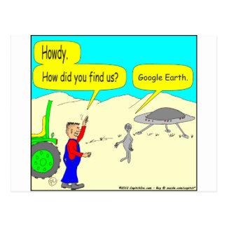 色の280 Google Earthの漫画 ポストカード