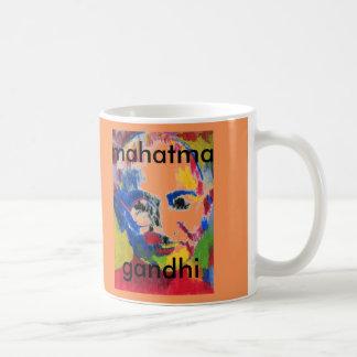 色のMahatma Gandhiのマグの顔 コーヒーマグカップ