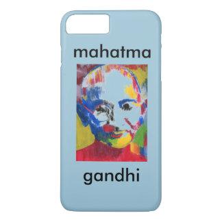 色のMahatma GandhiのiPhone 7の場合の顔 iPhone 8 Plus/7 Plusケース