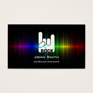 色のSoundwaveの石のスカルDJの音楽業界カード 名刺