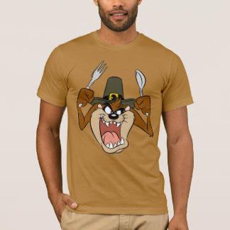 色のTAZ™の巡礼者の感謝祭 Tシャツ
