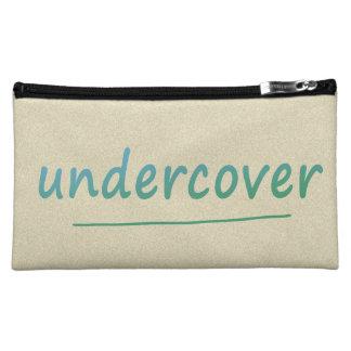 色のTurqoiseのおもしろいな秘密の光沢がある文字 コスメティックバッグ