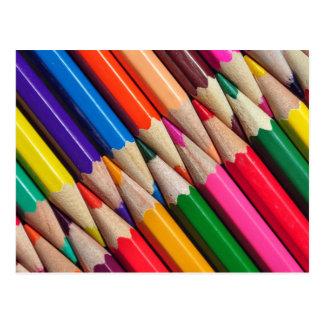 色はクレヨンの背景の質を書きます はがき