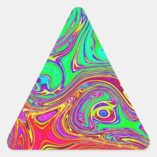 色はlove 三角形シール