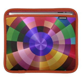 色スペクトルのモダン iPadスリーブ