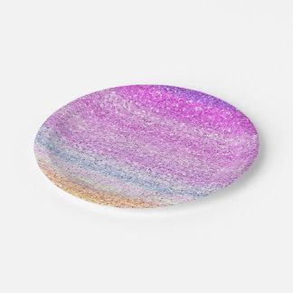 色スペクトルの輝きの効果 ペーパープレート